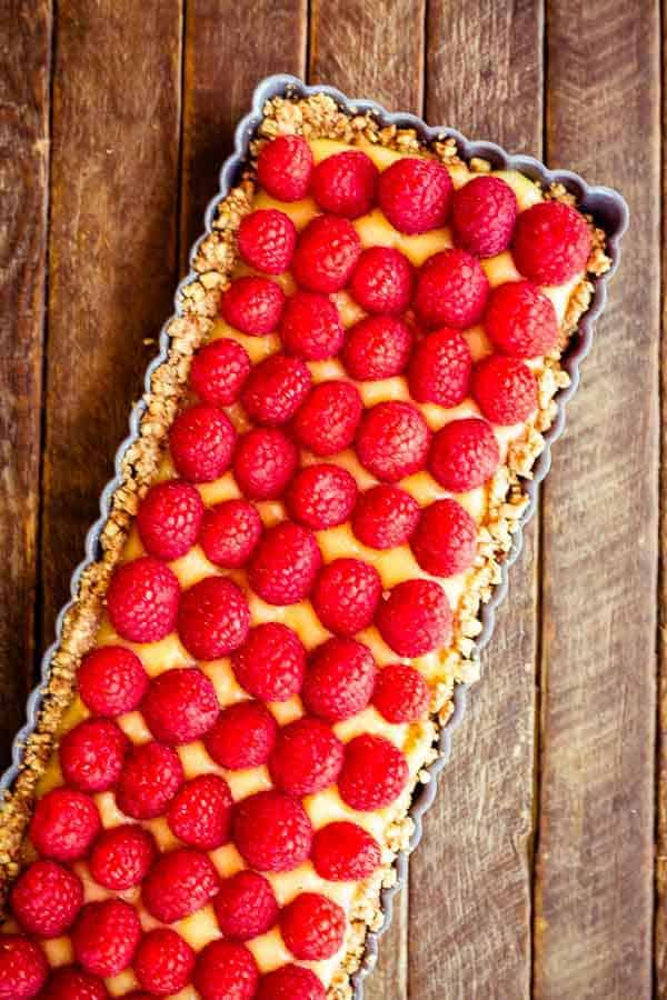 Raspberry Lemon Tart with a Pecan Crust