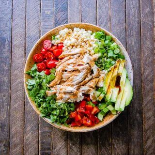 Mexican Chopped Salad with Spicy Sweet Chipotle Balsamic Dressing