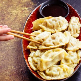 P.F. Changs menu for home includes new signature chicken and pork dumplings - an easy way to enjoy authentic Chinese food at home!