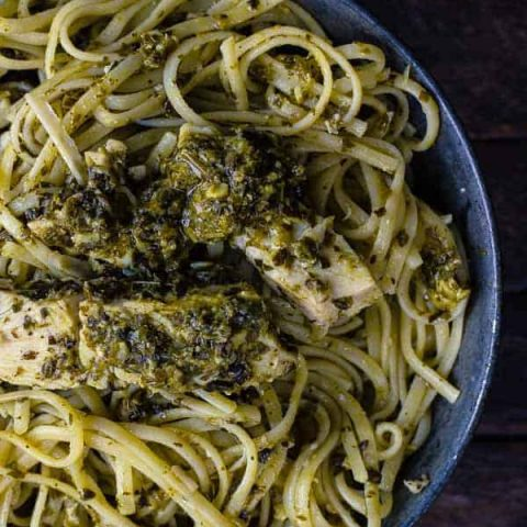 Pesto Pasta with Chicken and Parmesan