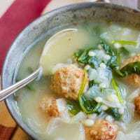 Easy Meatball Soup with Pearl Couscous