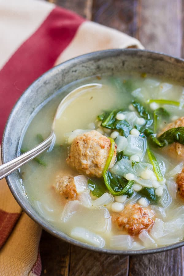 This easy Meatball Soup recipe has less than 10 ingredients and comes ...