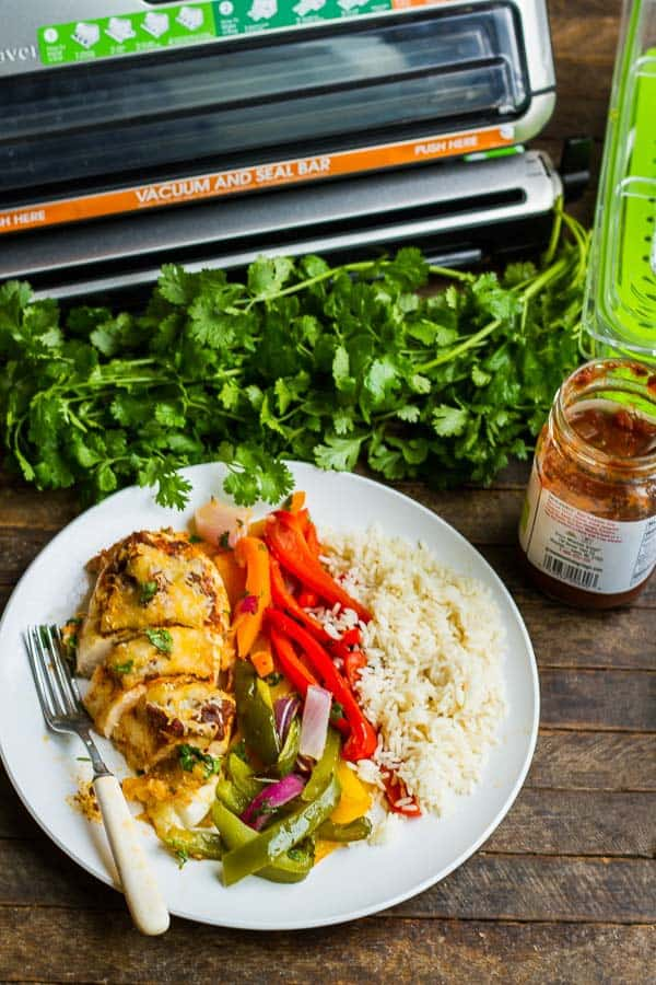 This simple and healthy Salsa Chicken is made with just one pan and has minimal ingredients (but maximum flavor)! Cooks in just 30 minutes with only one pan to clean!