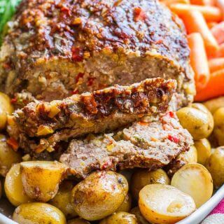 Balsamic & Parmesan Slow-Cooker Meatloaf