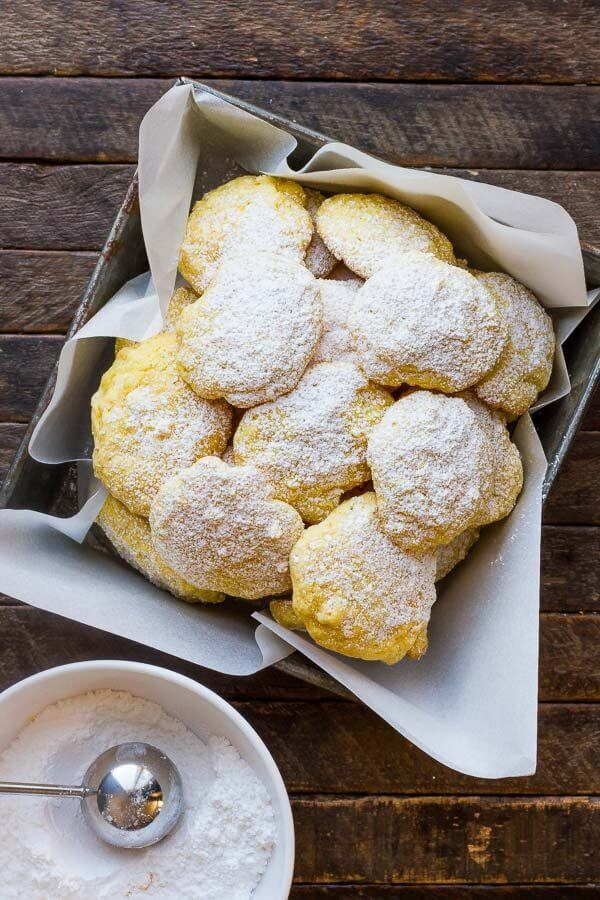 Lemon Cake Mix Cookies have just SIX ingredients and have a bright lemon flavor!