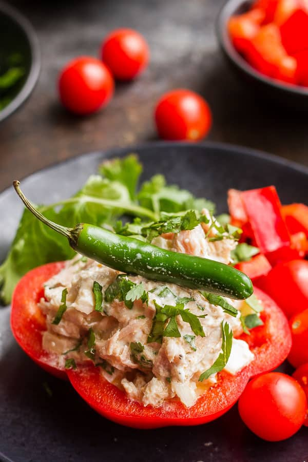 Spicy Tuna Salad with Bell Peppers
