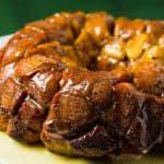 Cinnamon Roll Monkey Bread with an Eggnog Glaze