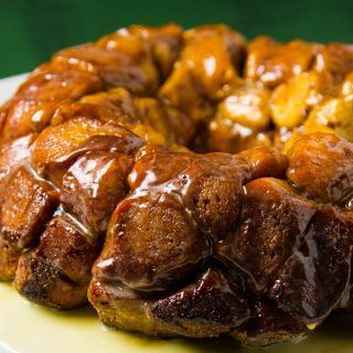 Cinnamon Roll Monkey Bread with Eggnog Glaze