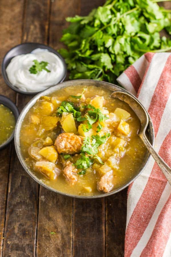 Sweet & Smoky Green Chile Soup