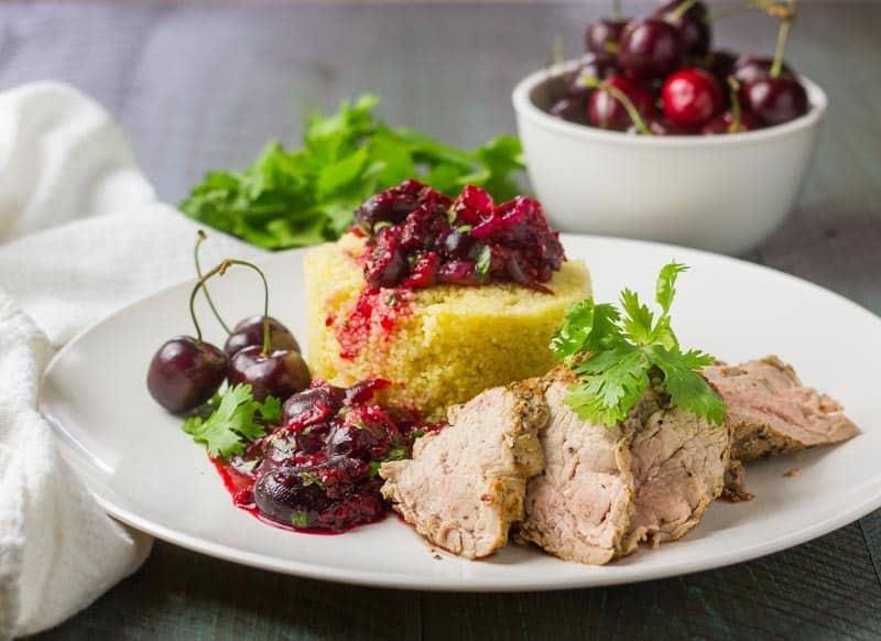 Grilled Pork Tenderloin with Roasted Cherry Salsa