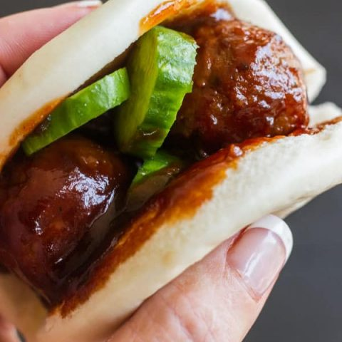Korean Meatball Sliders