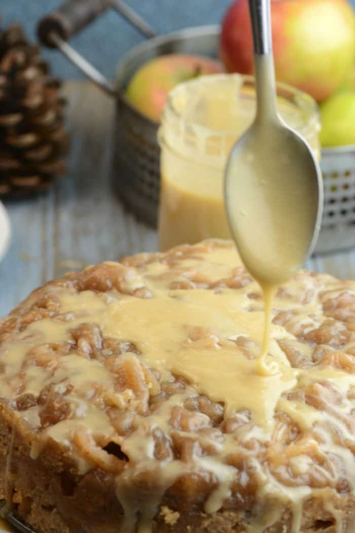 Apple Bread with Salted Caramel Icing - plus more delicious Instant Pot desserts you'll love to make!
