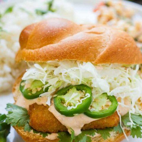 Fish Fillet Sandwich (Taco Style)