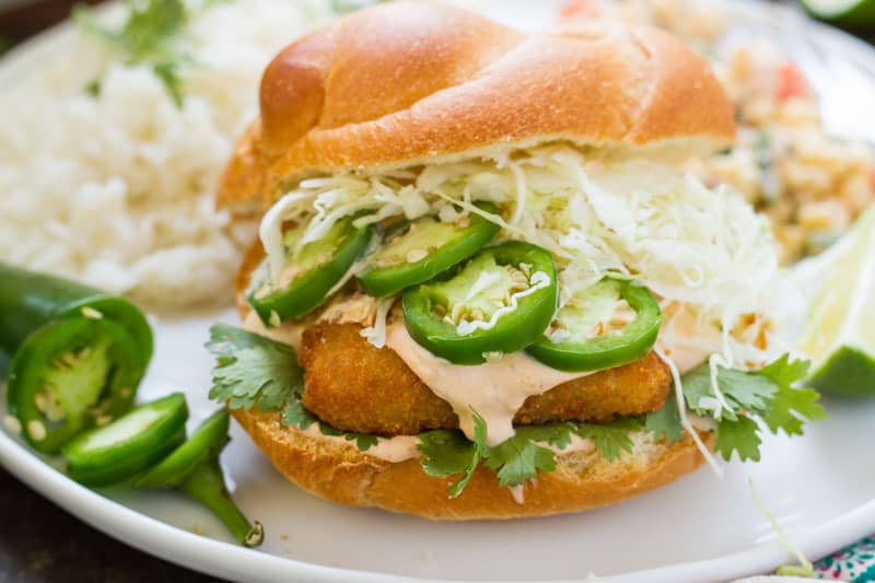 "Fish Filet Sandwich (Fish Taco Style) - or ""how to dress up frozen fish patties so they're AWESOME""!"