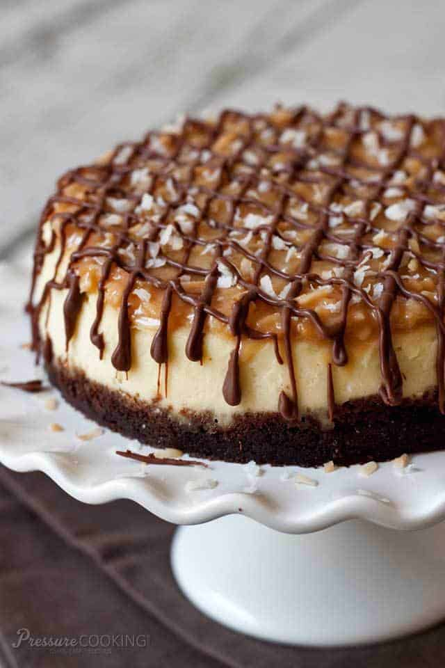Instant Pot Samoa Cheesecake - plus more delicious Instant Pot desserts you'll love to make!