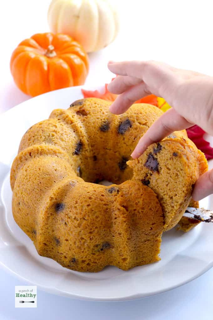 Pumpkin Chocolate Chip Bundt Cake - and more Instant Pot desserts you'll love to make!