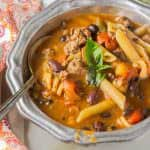 Beef Minestrone Soup - stay nourished and healthy this cold season!