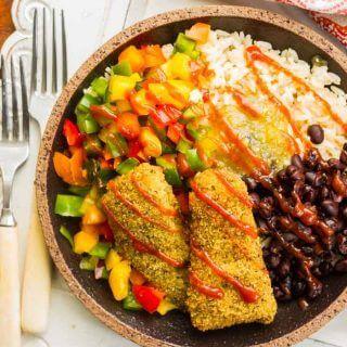 Southwestern Fish & Veggie Bowl