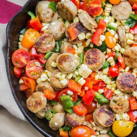 Spicy Sauteed Veggies with Chicken Sausage