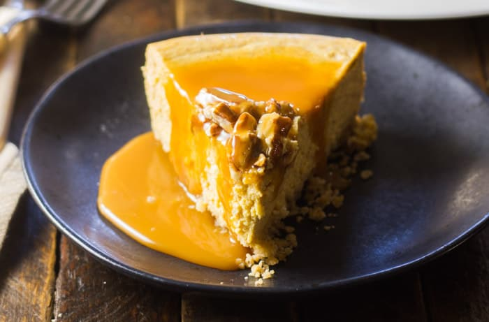 Pumpkin Instant Pot Cheesecake (with a Granola Crust!)