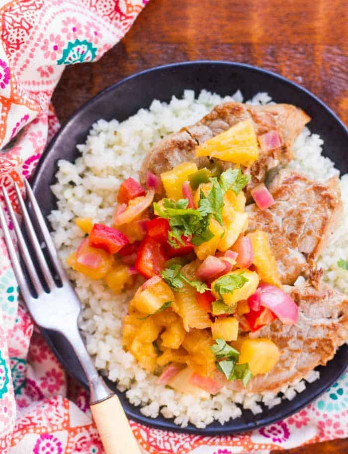 Teriyaki Pork Loin with Pineapple Relish