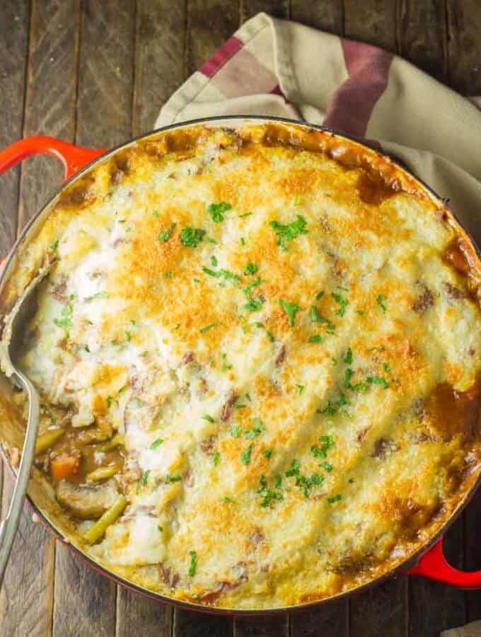 Cottage Pie with Parmesan Potatoes