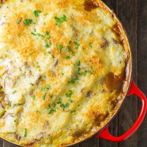 Cottage Pie with Parmesan Potatoes