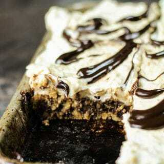 Chocolate Chip Cookie Peanut Butter Slab Pie
