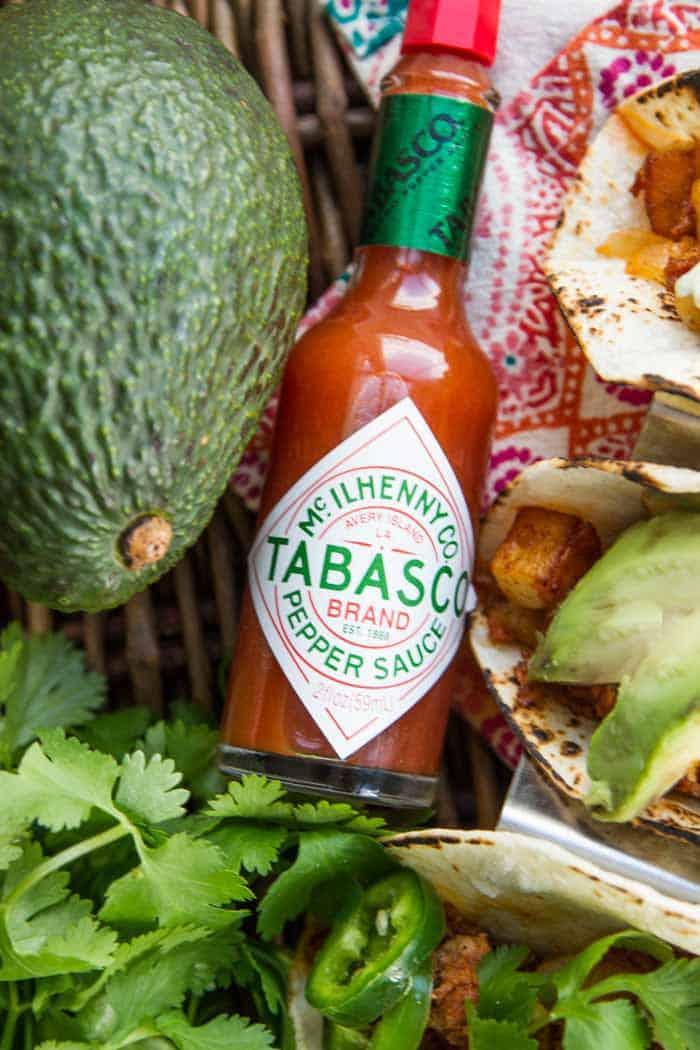 A bottle of TABASCO