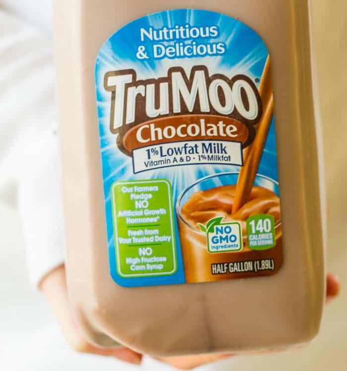 Carton of TruMoo chocolate milk