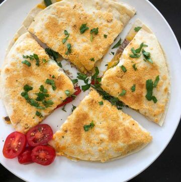 Instant Pot Parmesan-Crusted Carnitas Quesadillas