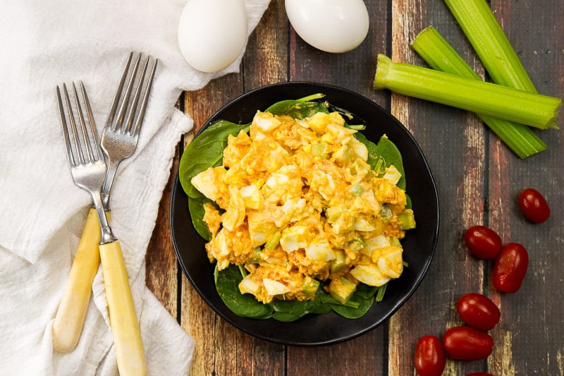 Buffalo Chicken Egg Salad