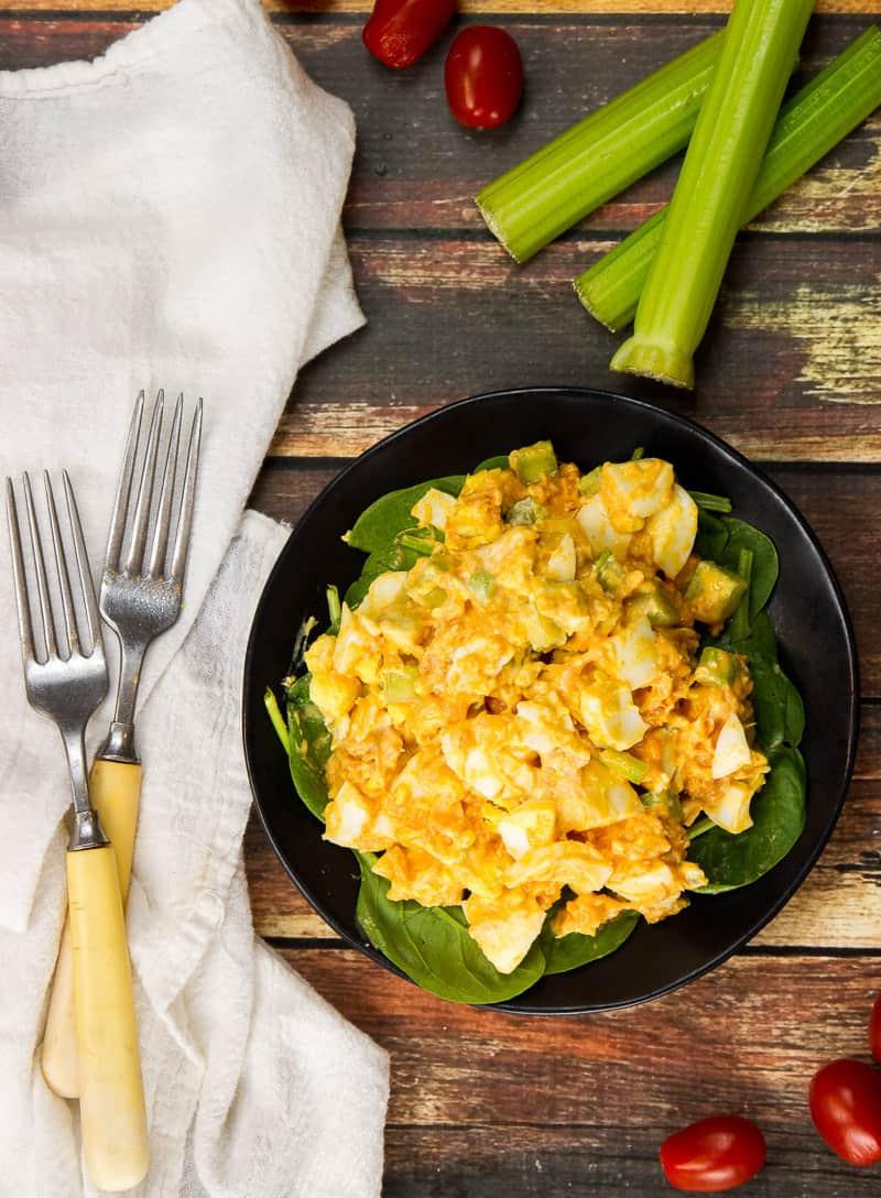 Buffalo Chicken Egg Salad