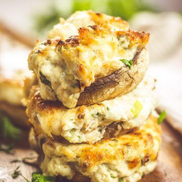 Crab Stuffed Mushrooms (Keto Friendly, too!)
