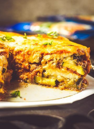 Instant Pot Lasagna recipe with zucchini and eggplant. Just 30 minutes in the Instant Pot!