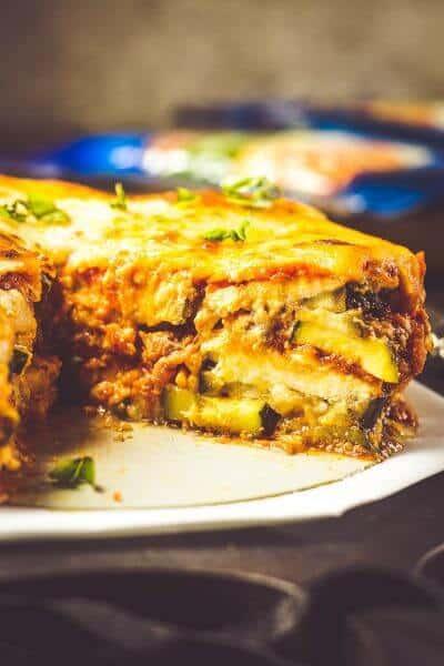 Instant Pot Lasagna Recipe with Zucchini & Eggplant