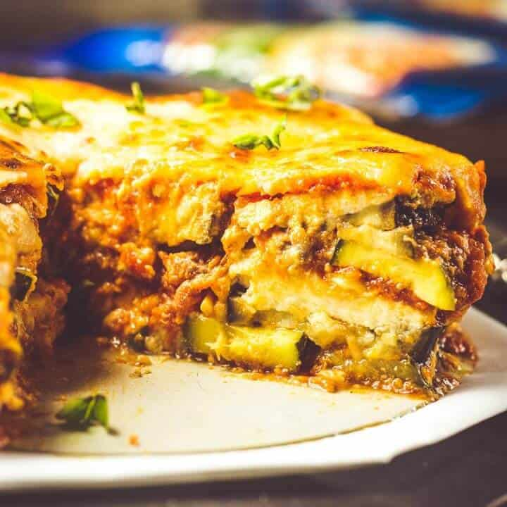 Instant Pot Lasagna Recipe with Zucchini and Eggplant