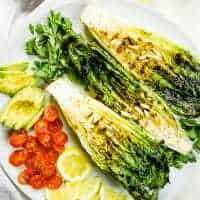 Keto Salad | Lemony Romaine and Avocado Salad