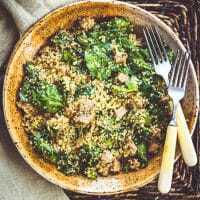 Instant Pot Quinoa Spinach Salad