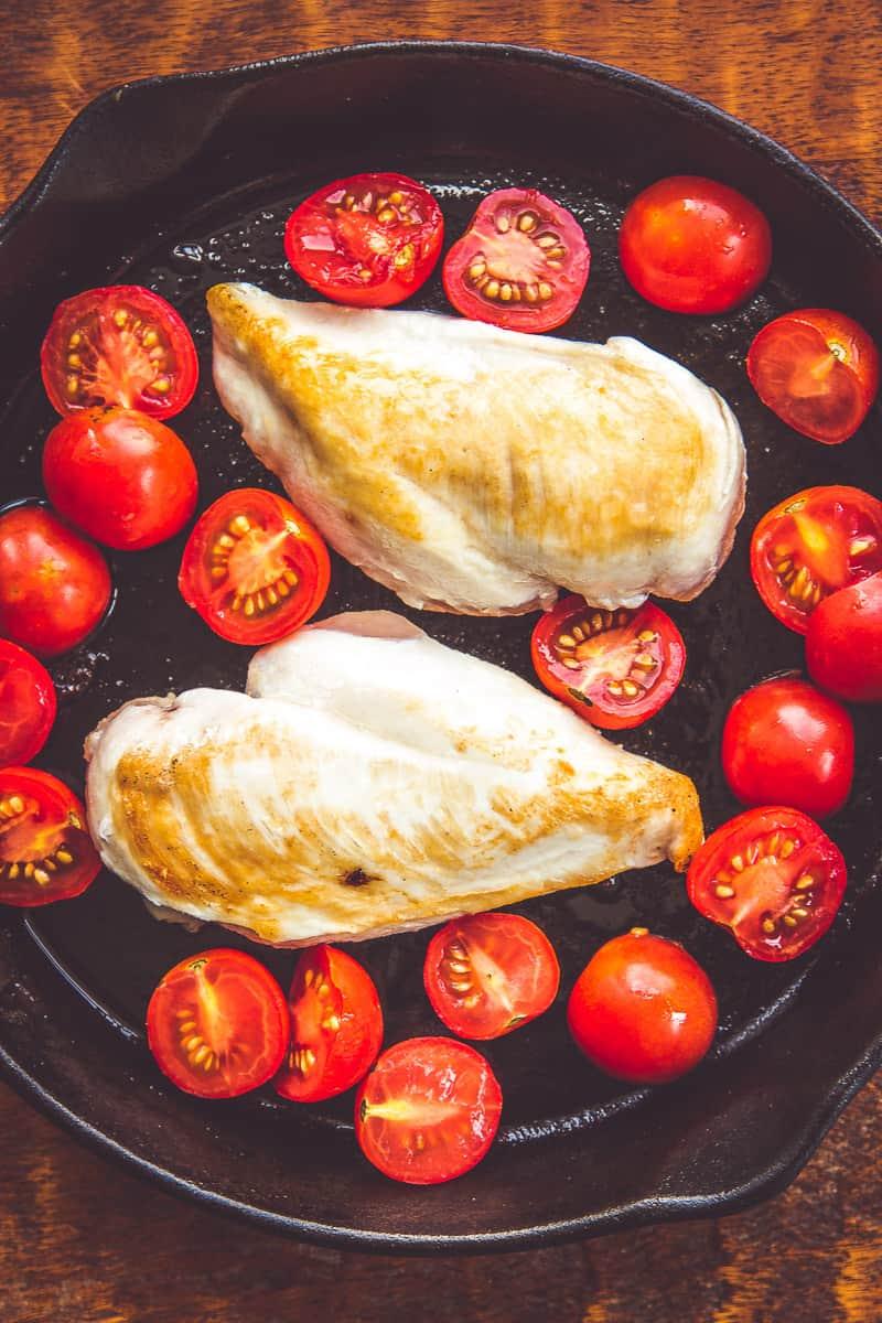 Air Chilled Chicken - Tomato Basil Chicken with Roasted Garlic