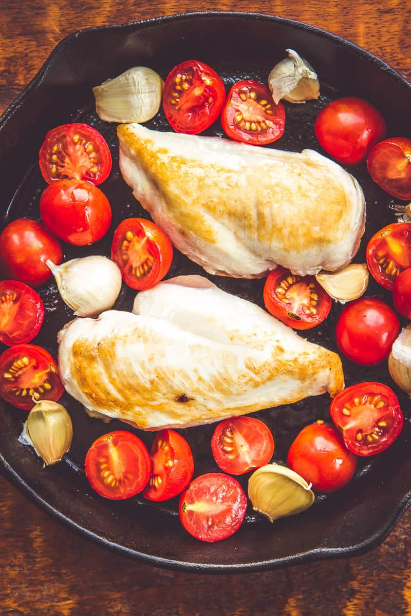 Air Chilled Chicken - Tomato Basil Chicken with Roasted Garlic
