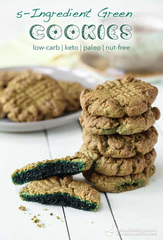 5-Ingredient Keto Green Cookies plus more great recipes for keto cookies!