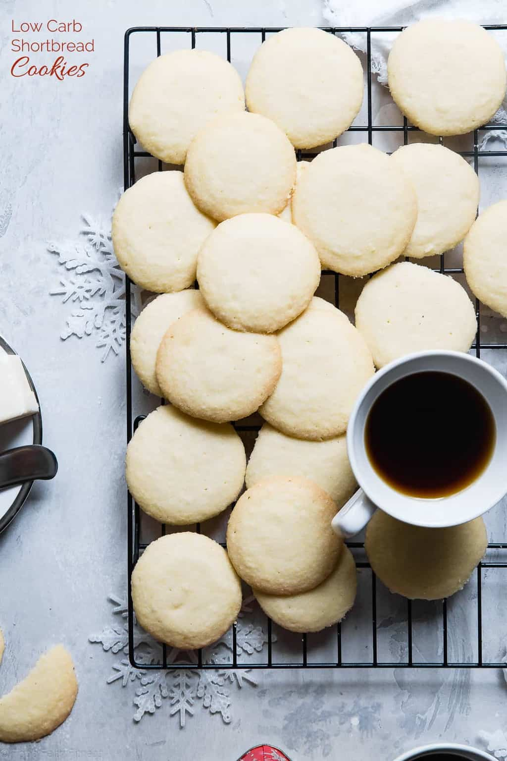Keto Shortbread Cookies plus more great recipes for keto cookies!