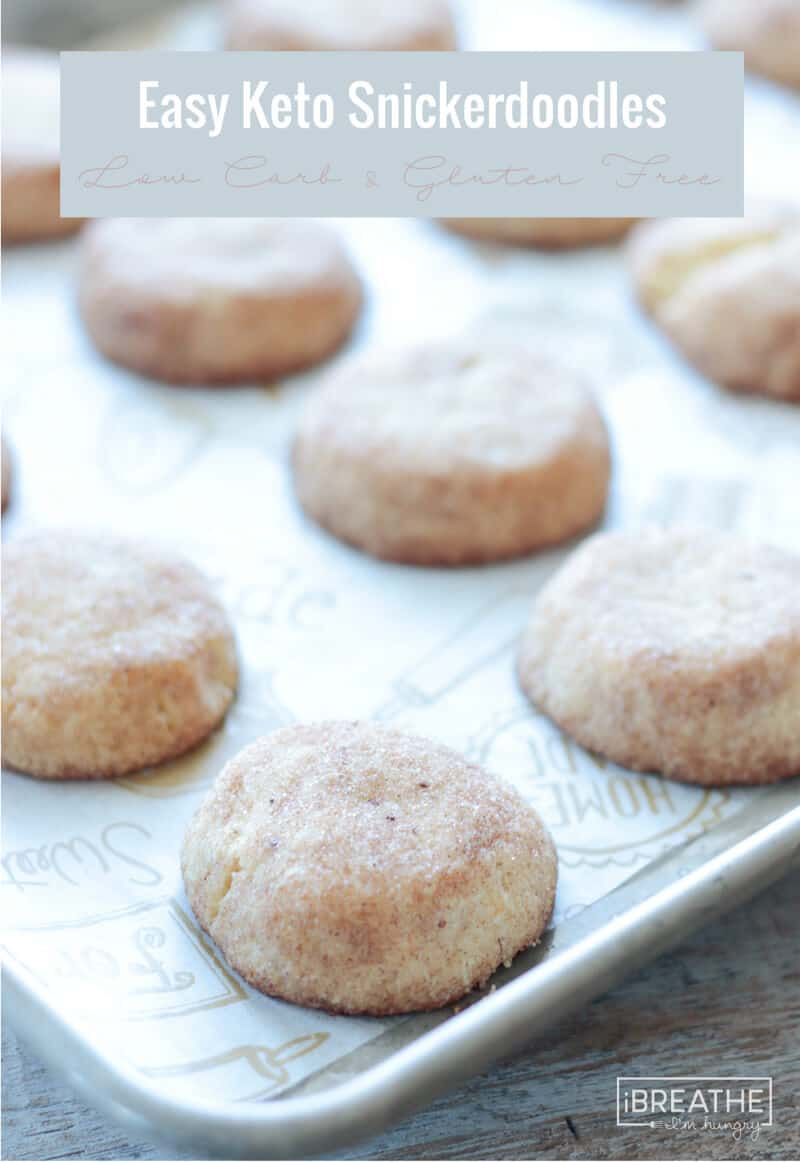 Easy Keto Snickerdoodles plus more great recipes for keto cookies!