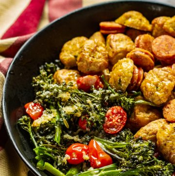 Sausage & Broccolini Sheet Pan Dinner