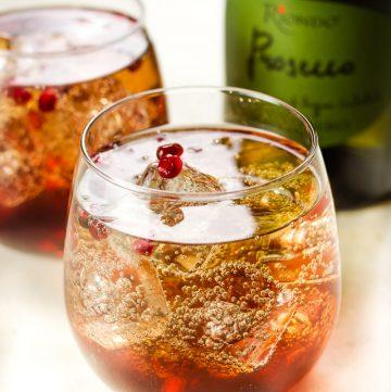 Pomegranate & Prosecco Spritzer