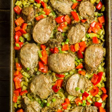 Sheet Pan Black Pepper Pork Hash