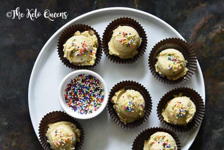 Keto Edible Sugar Cookie Dough Fat Bombs