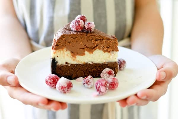 Pressure Cooker (Instant Pot)Triple Chocolate Layered Cheesecake