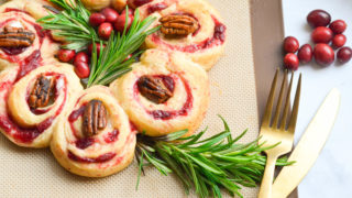 Cranberry Brie Crescent Wreath -